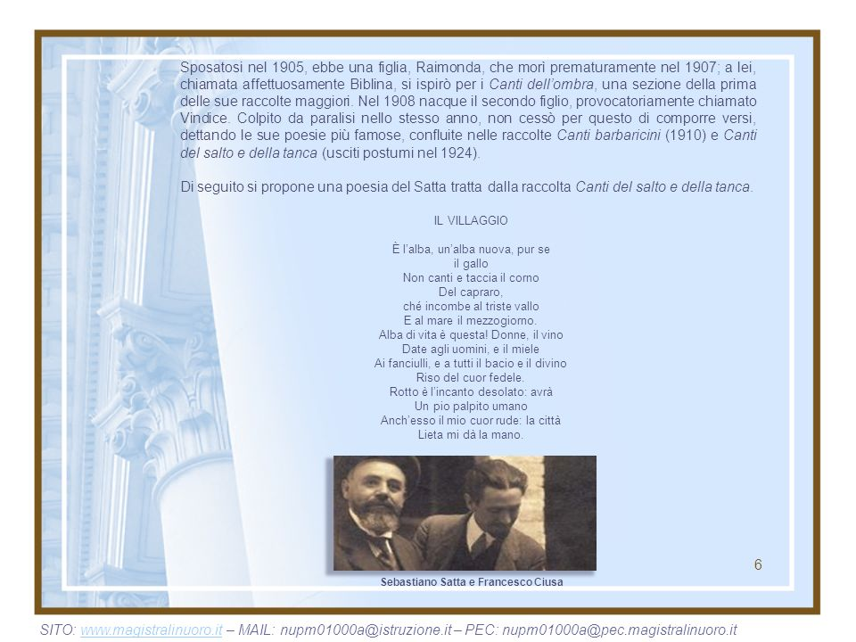 Sebastiano Satta e Francesco Ciusa