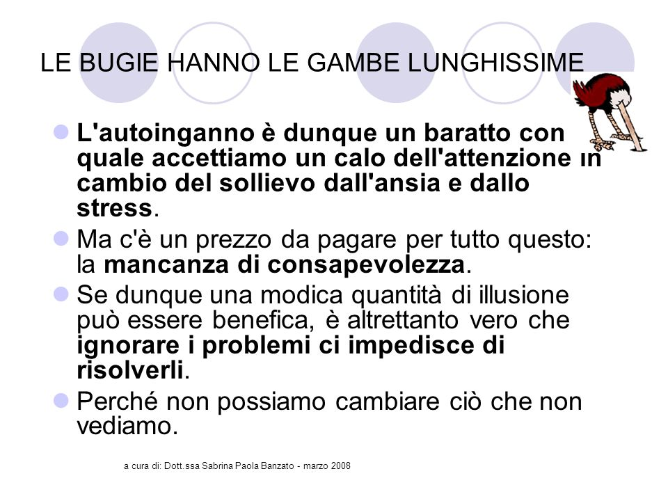 LE BUGIE HANNO LE GAMBE LUNGHISSIME