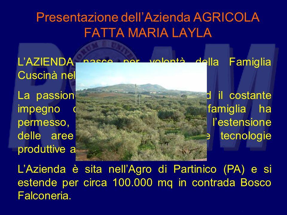 Presentazione dell'Azienda AGRICOLA FATTA MARIA LAYLA