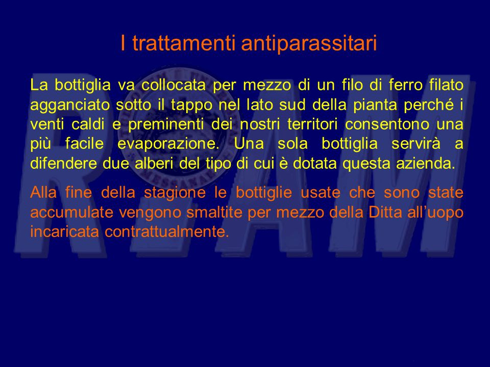 I trattamenti antiparassitari