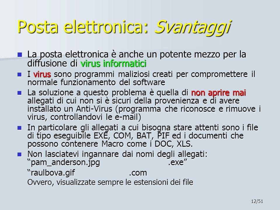 Posta elettronica: Svantaggi
