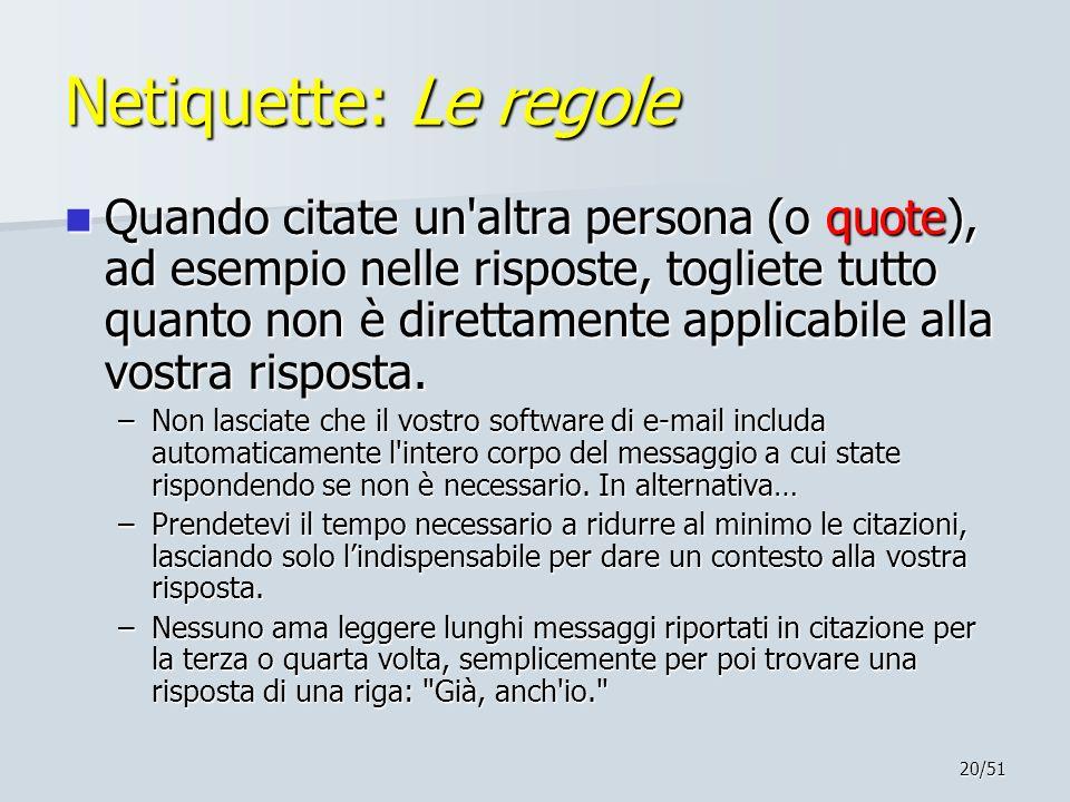 Netiquette: Le regole