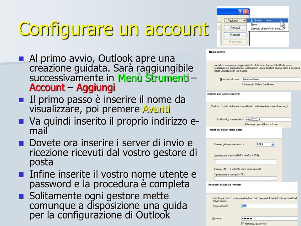 Configurare un account
