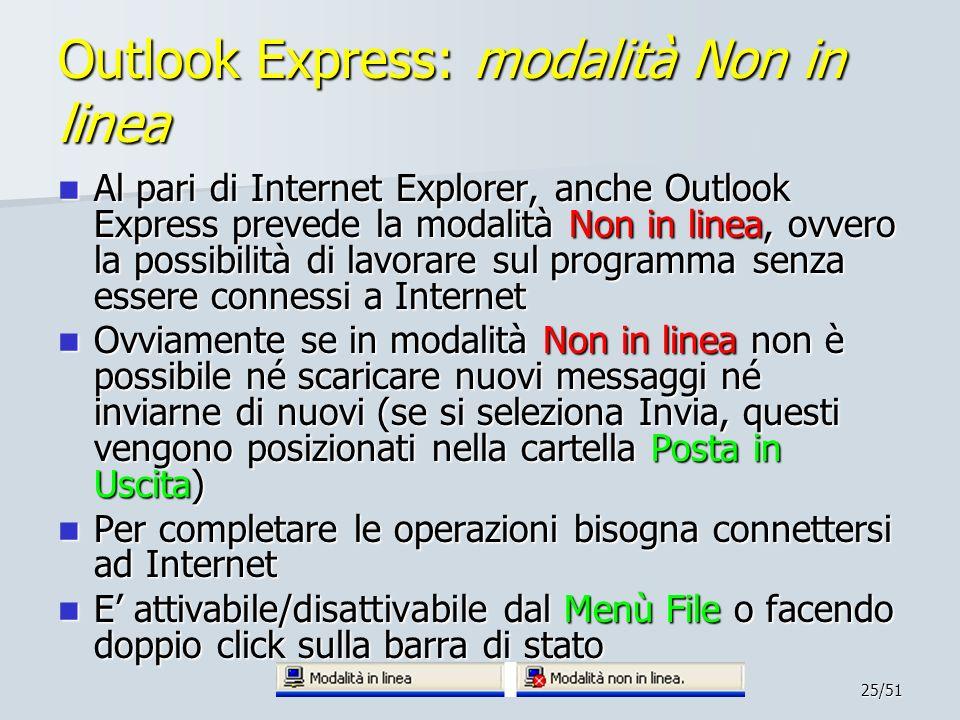 Outlook Express: modalità Non in linea