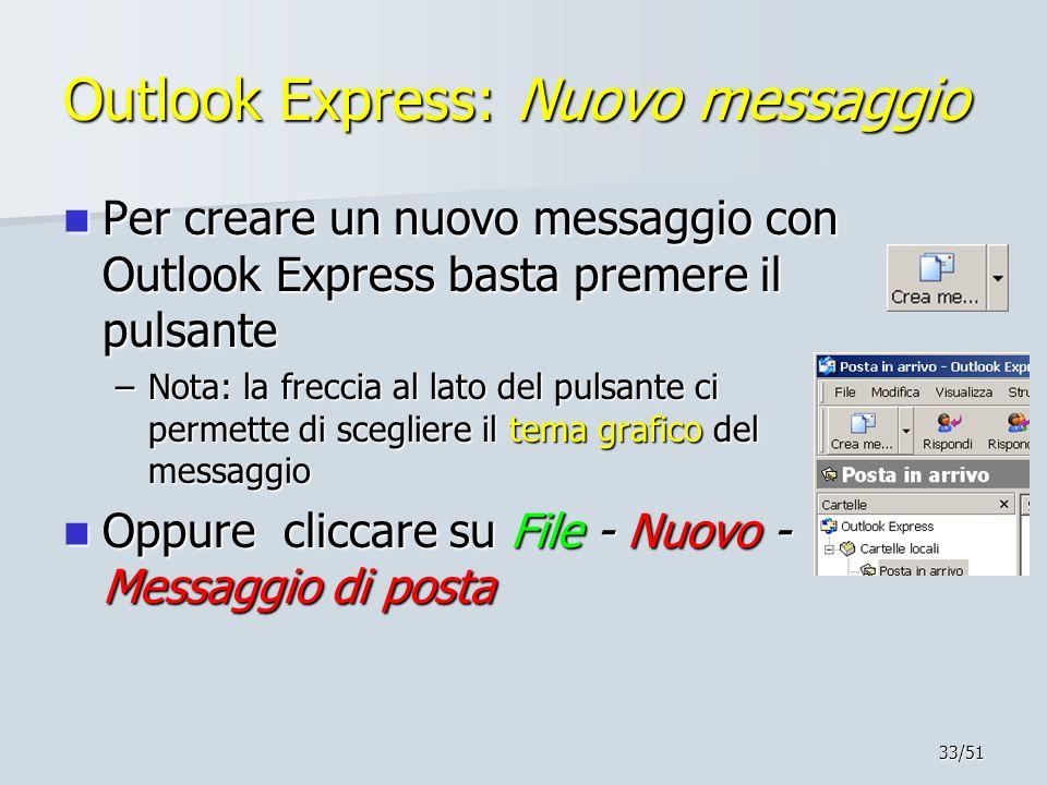 Outlook Express: Nuovo messaggio