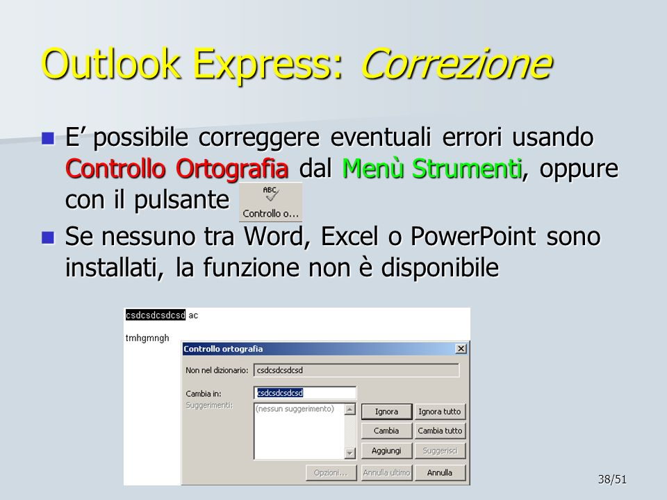 Outlook Express: Correzione