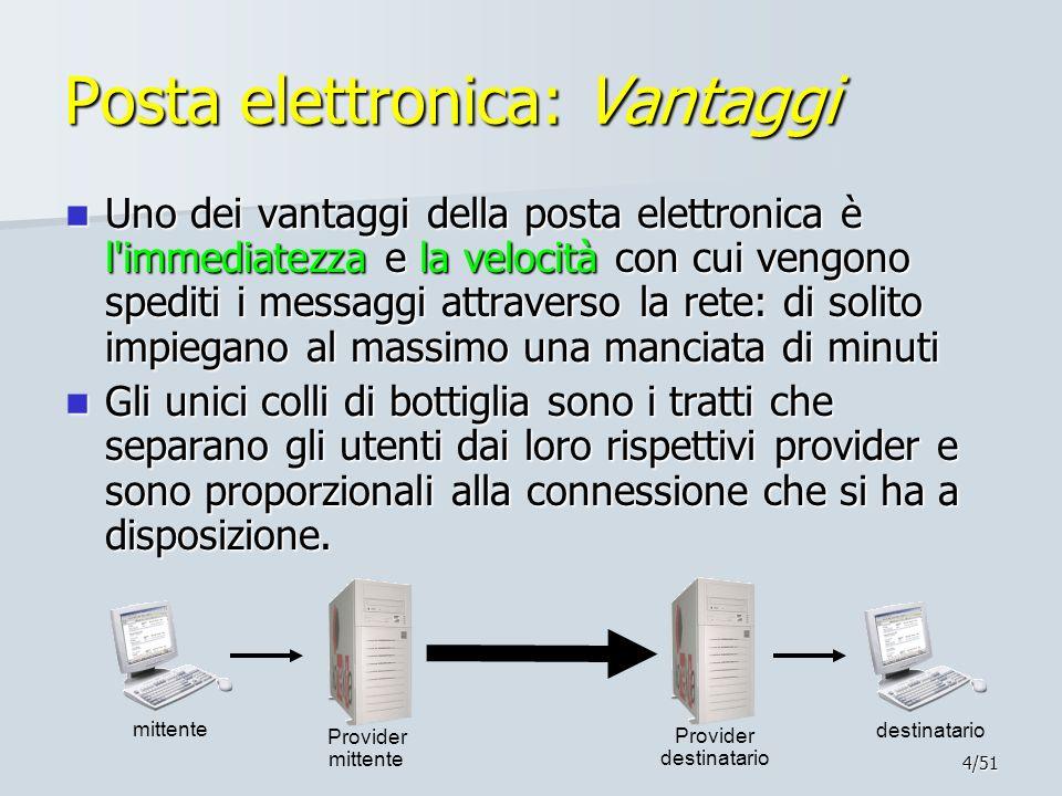 Posta elettronica: Vantaggi