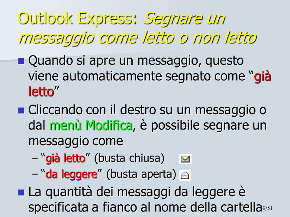 Outlook Express: Segnare un messaggio come letto o non letto