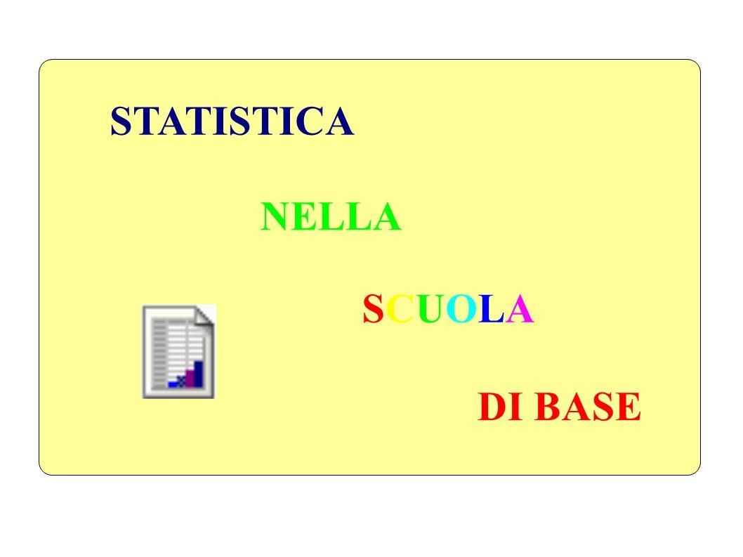 STATISTICA NELLA SCUOLA DI BASE