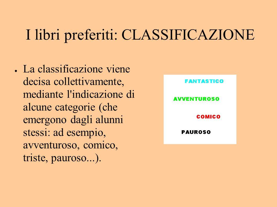 I libri preferiti: CLASSIFICAZIONE
