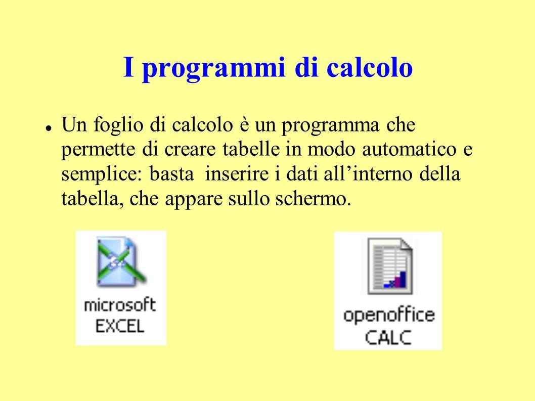 I programmi di calcolo