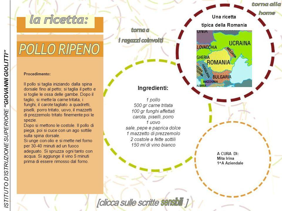 la ricetta: POLLO RIPENO