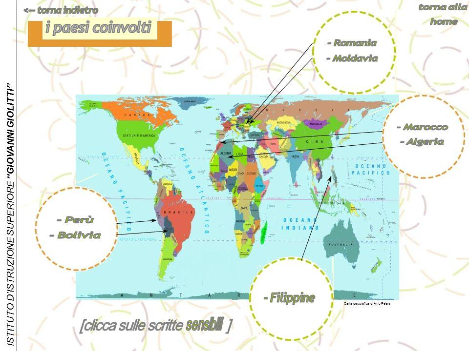 i paesi coinvolti - Romania - Moldavia - Marocco - Algeria - Perù