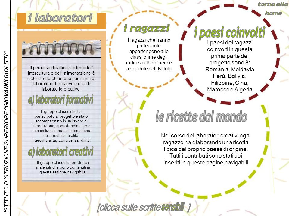 a) laboratori formativi a) laboratori creativi