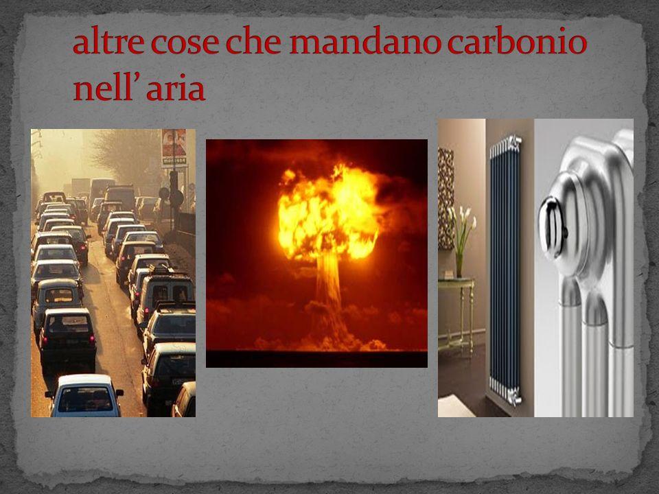 altre cose che mandano carbonio nell' aria