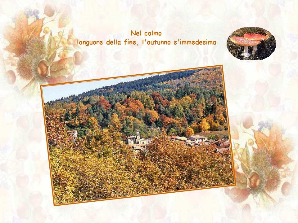 languore della fine, l autunno s immedesima.