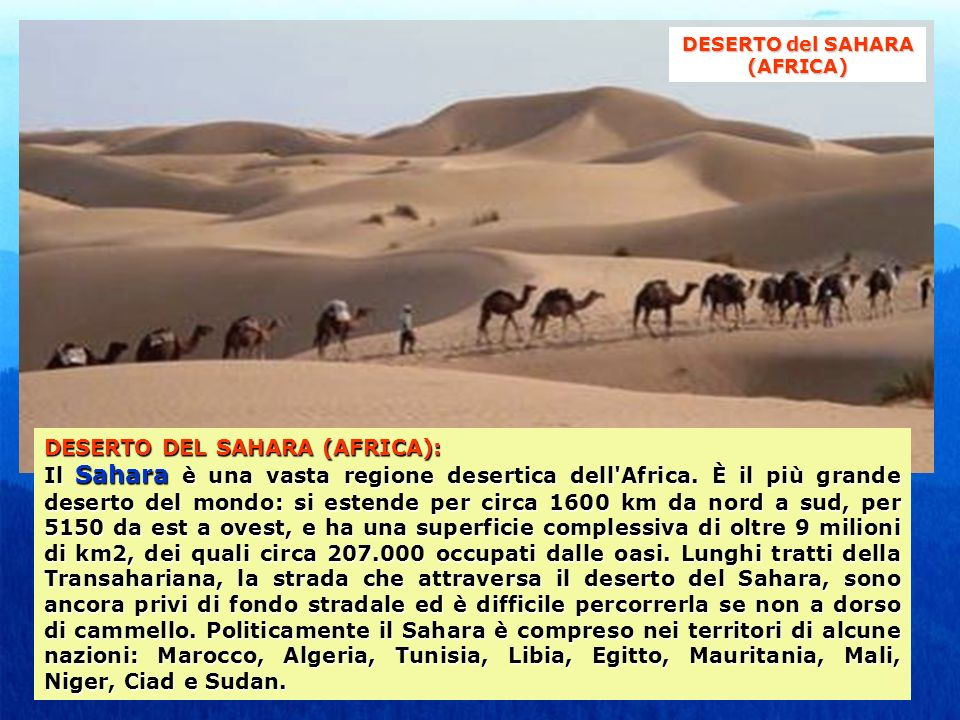 DESERTO del SAHARA (AFRICA)