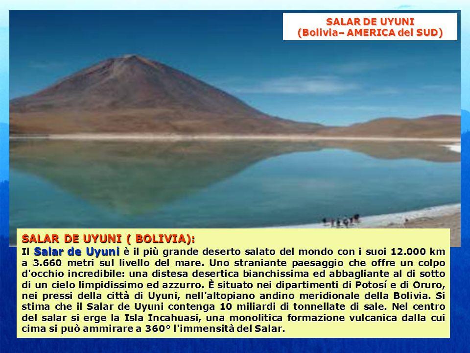 SALAR DE UYUNI (Bolivia– AMERICA del SUD)