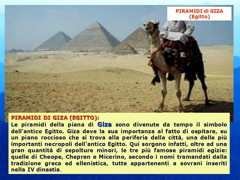 PIRAMIDI di GIZA (Egitto)