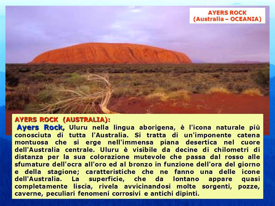 AYERS ROCK (Australia – OCEANIA)