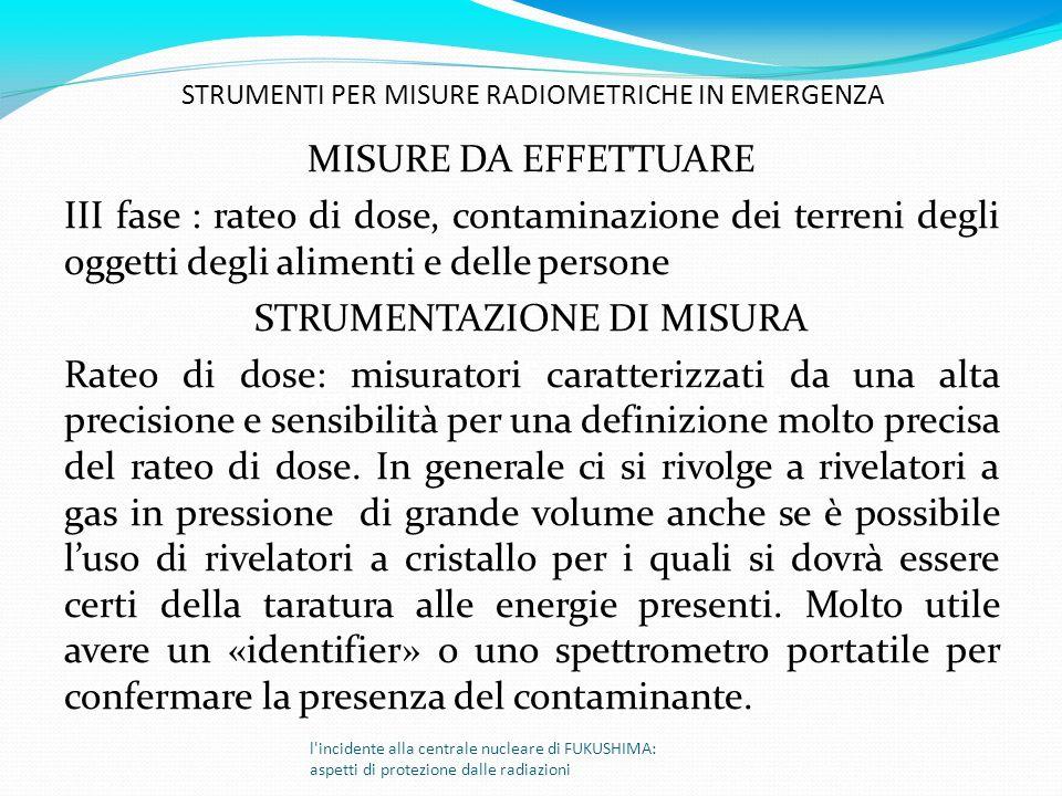 STRUMENTAZIONE DI MISURA