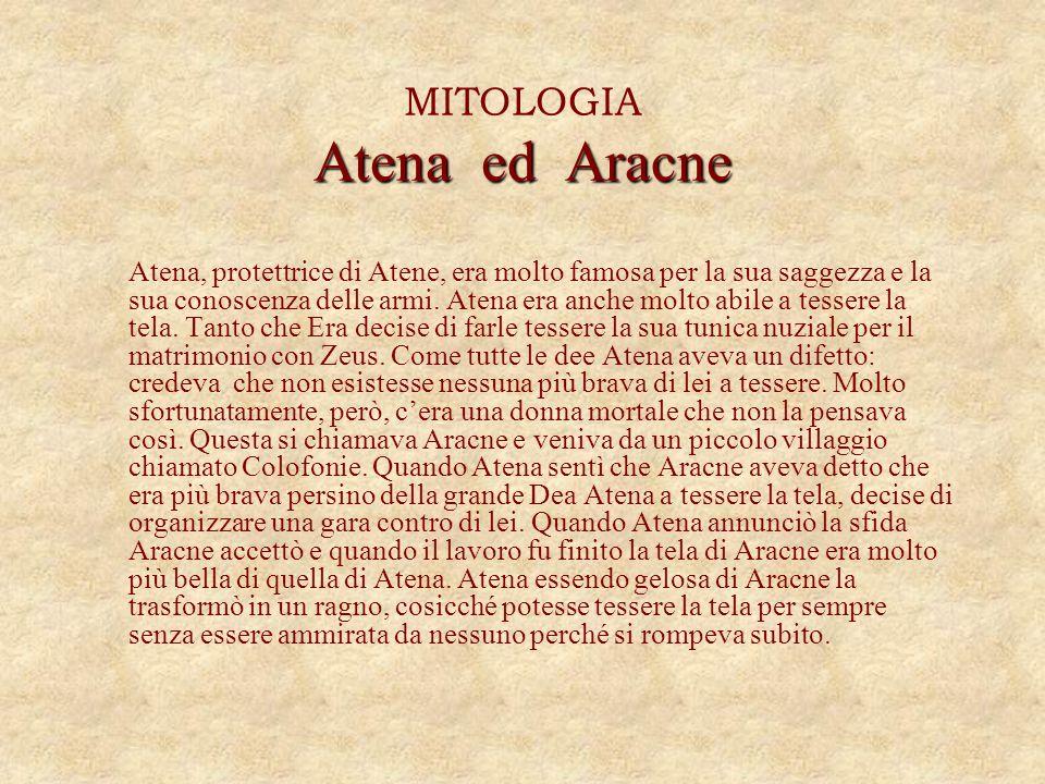 MITOLOGIA Atena ed Aracne