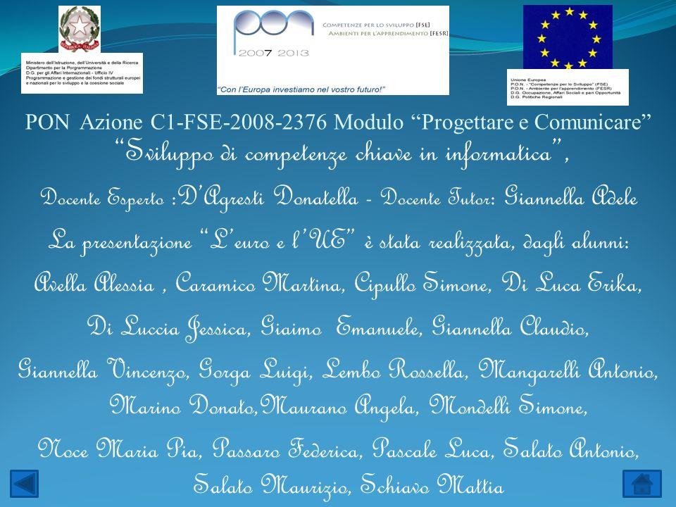 PON Azione C1-FSE-2008-2376 Modulo Progettare e Comunicare