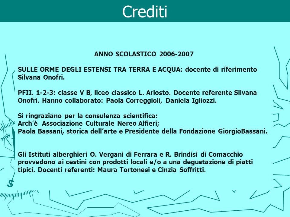 Crediti ANNO SCOLASTICO 2006-2007
