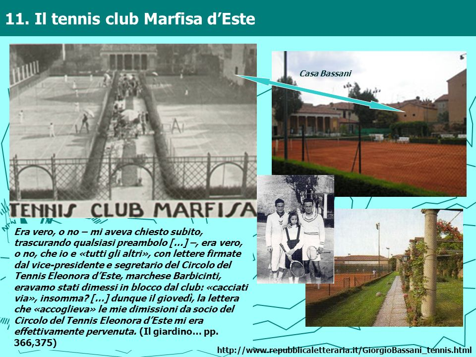 11. Il tennis club Marfisa d'Este