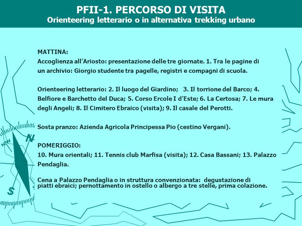 PFII-1. PERCORSO DI VISITA Orienteering letterario o in alternativa trekking urbano