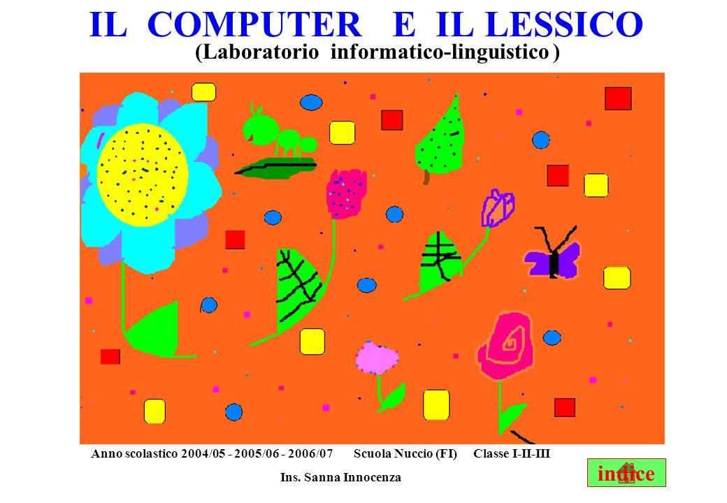 IL COMPUTER E IL LESSICO