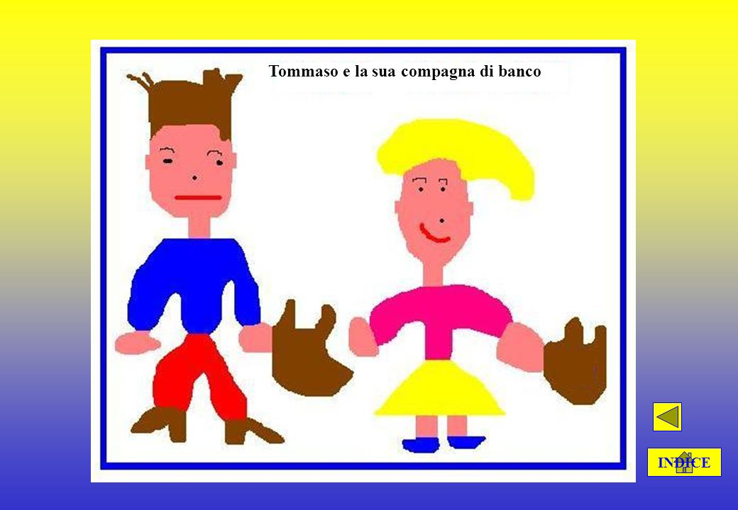 Tommaso e la sua compagna di banco