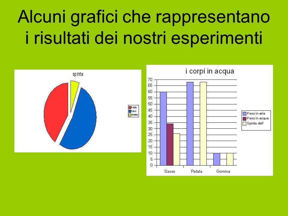 Alcuni grafici che rappresentano i risultati dei nostri esperimenti