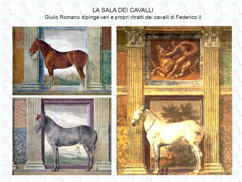 LA SALA DEI CAVALLI Giulio Romano dipinge veri e propri ritratti dei cavalli di Federico II