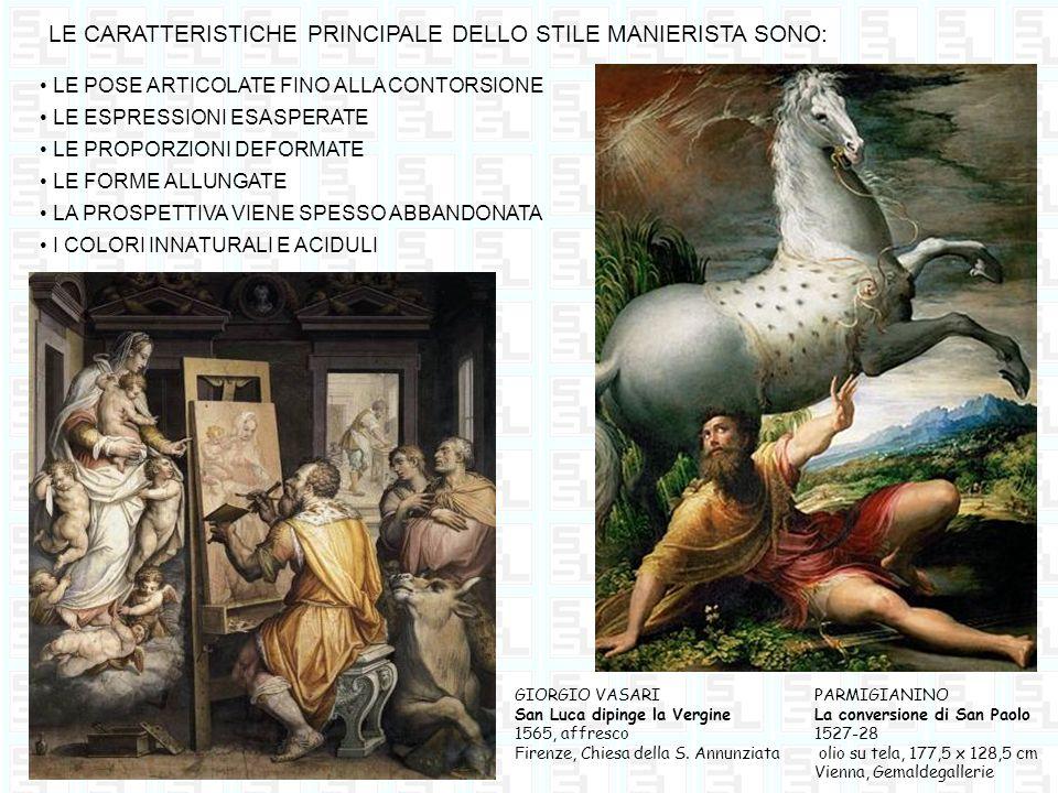 LE CARATTERISTICHE PRINCIPALE DELLO STILE MANIERISTA SONO: