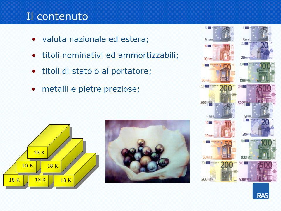 Il contenuto valuta nazionale ed estera;