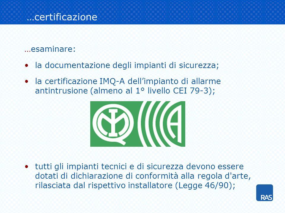 …certificazione …esaminare: