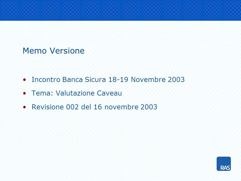 Memo Versione Incontro Banca Sicura 18-19 Novembre 2003