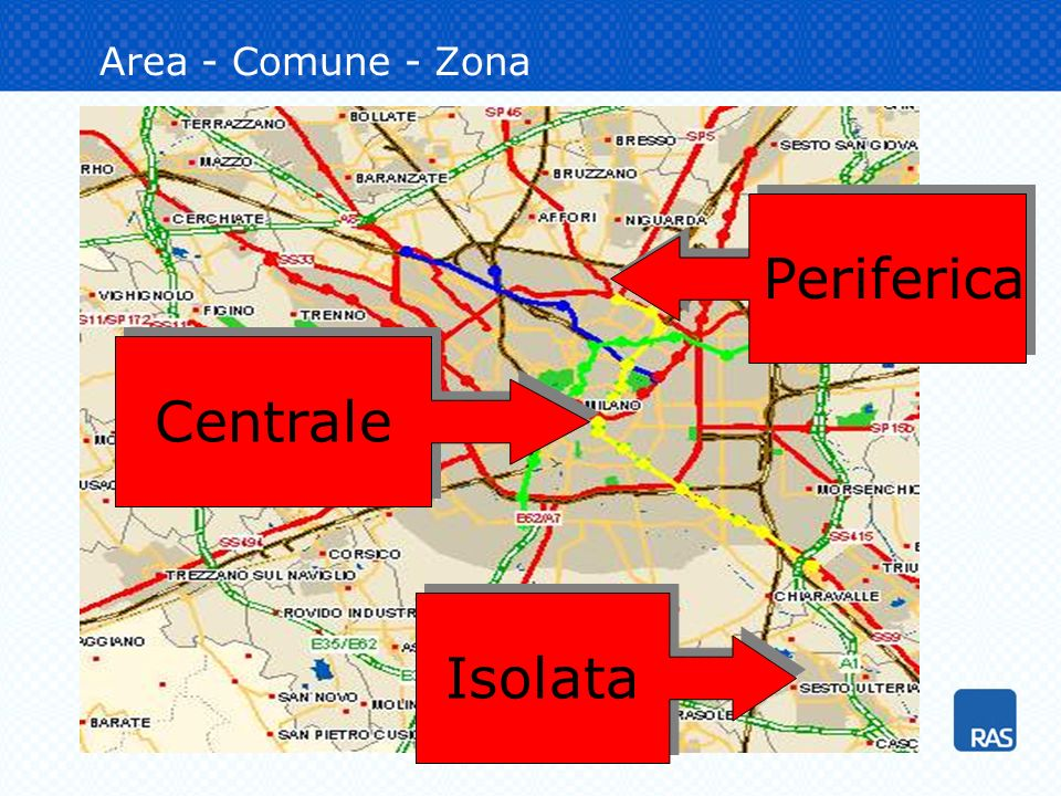 Area - Comune - Zona Periferica Centrale Isolata