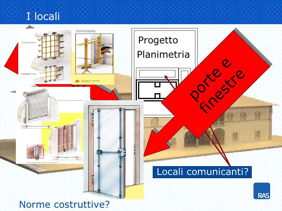 fabbricato porte e finestre I locali Progetto Planimetria