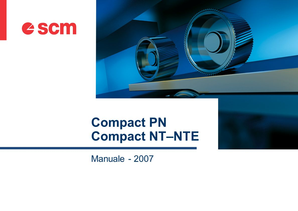 Compact PN Compact NT–NTE Manuale - 2007