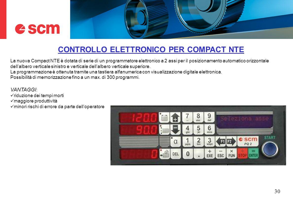 CONTROLLO ELETTRONICO PER COMPACT NTE