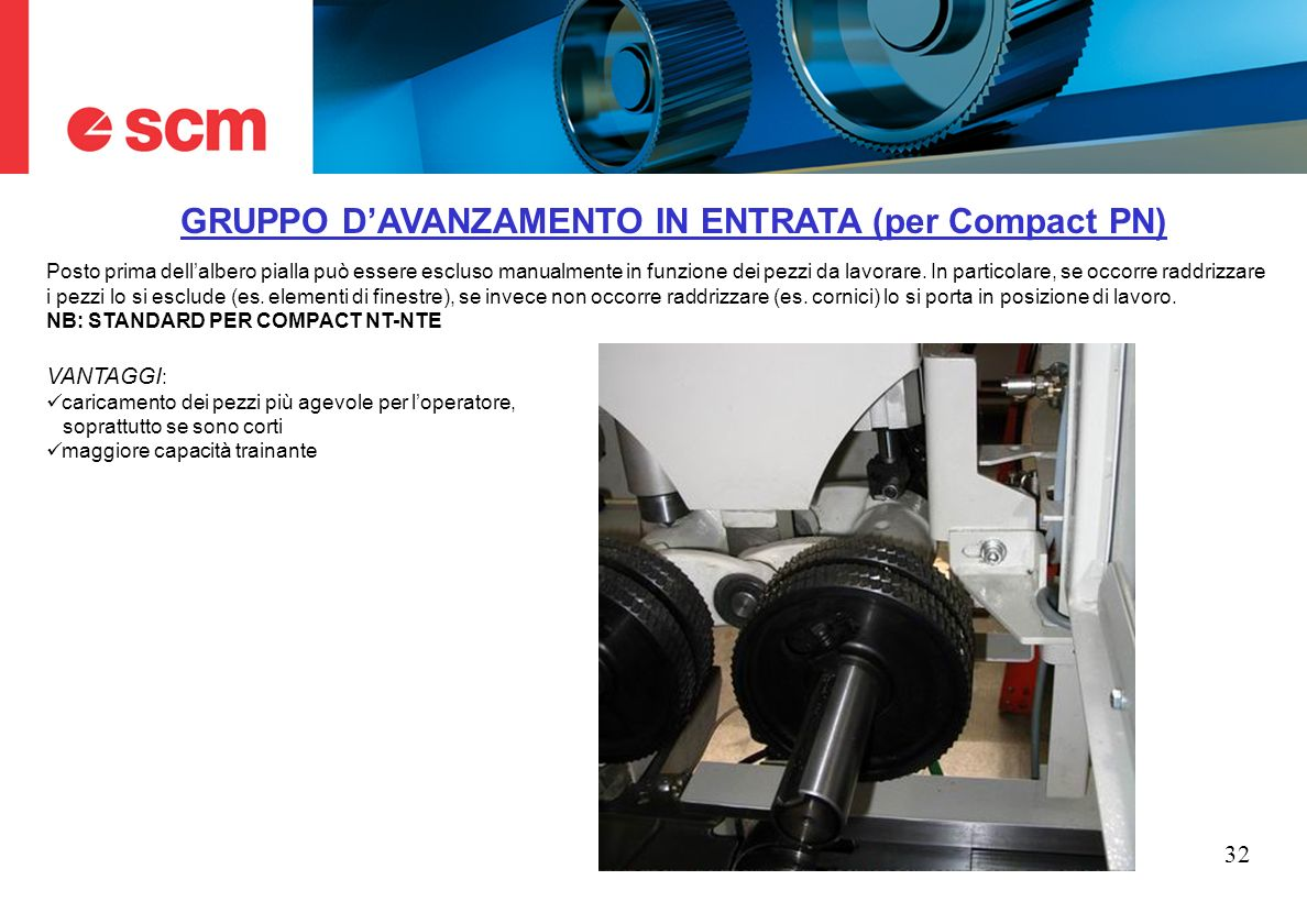 GRUPPO D'AVANZAMENTO IN ENTRATA (per Compact PN)