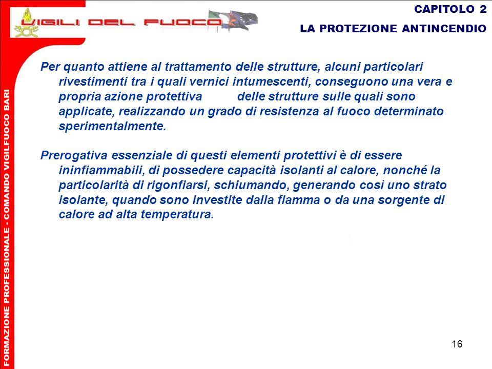 CAPITOLO 2 LA PROTEZIONE ANTINCENDIO.