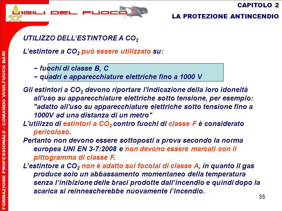 UTILIZZO DELL'ESTINTORE A CO2