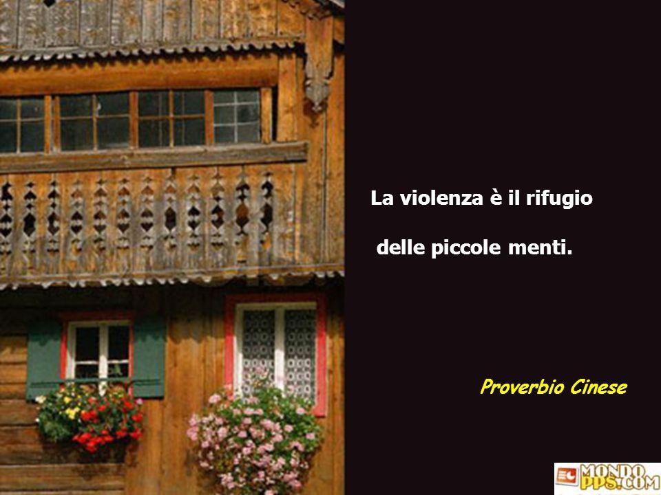 La violenza è il rifugio delle piccole menti.