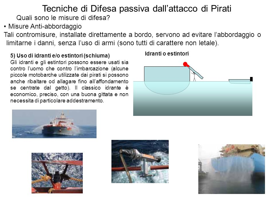 Tecniche di Difesa passiva dall'attacco di Pirati
