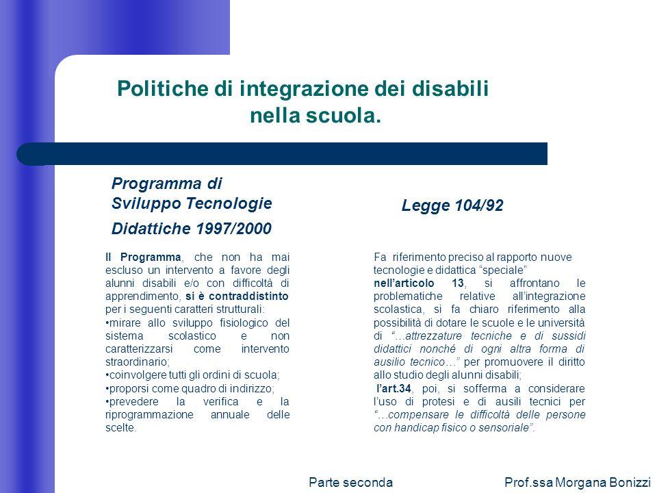 Politiche di integrazione dei disabili nella scuola.