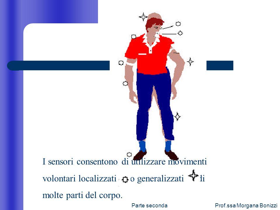 I sensori consentono di utilizzare movimenti