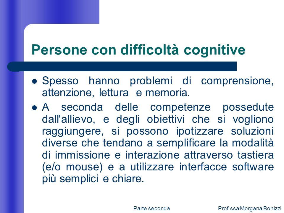 Persone con difficoltà cognitive
